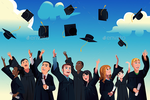 GraphicRiver Students Celebrating their Graduation 9755407