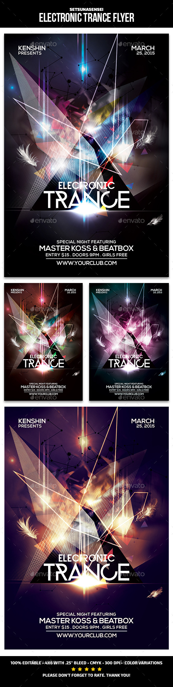 GraphicRiver Electronic Trance Flyer 9755419