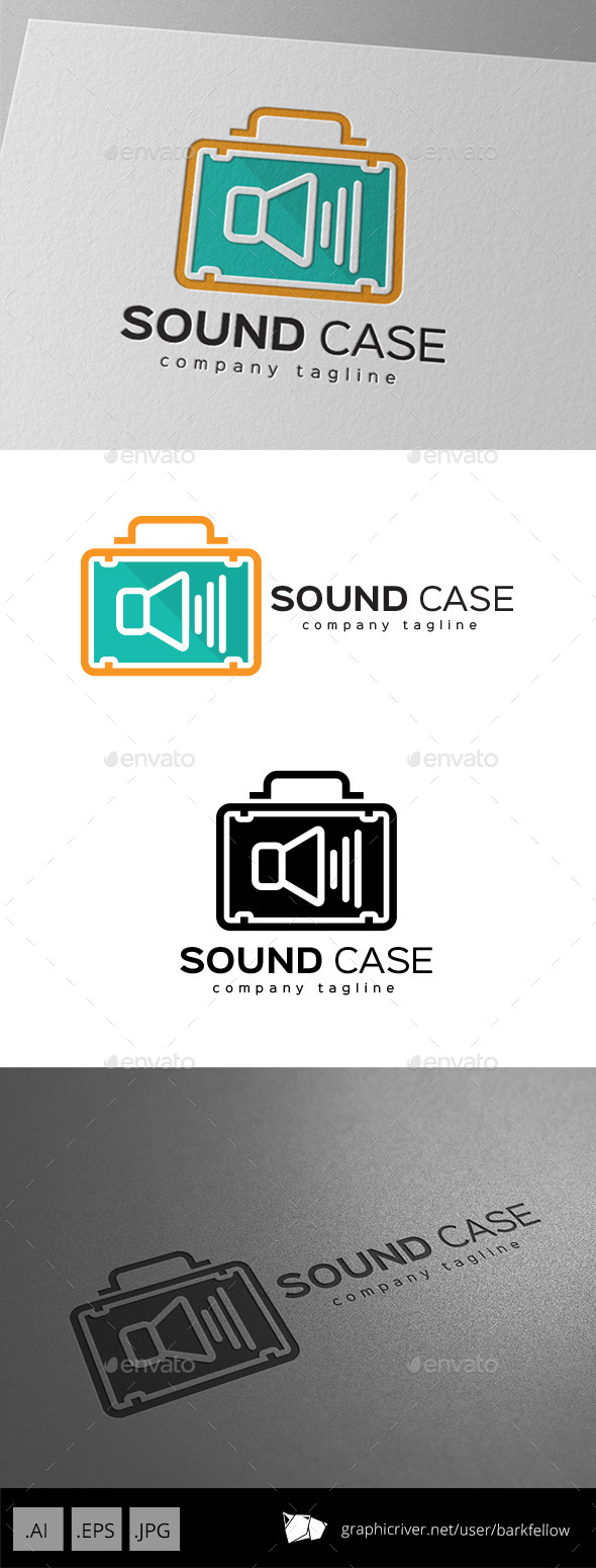 GraphicRiver Sound System Case Bag Logo 9755528