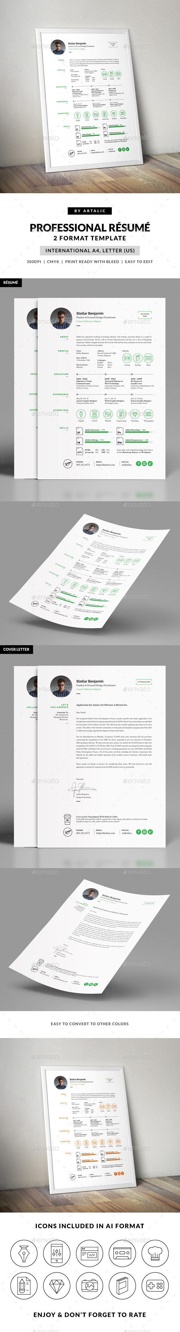 GraphicRiver Stellar Resume CV 9700862
