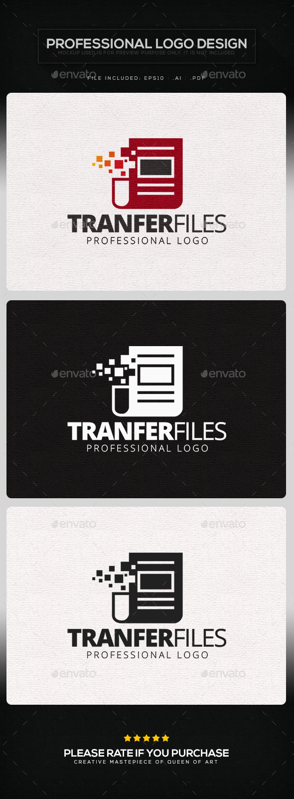 Transfer Files Logo Template