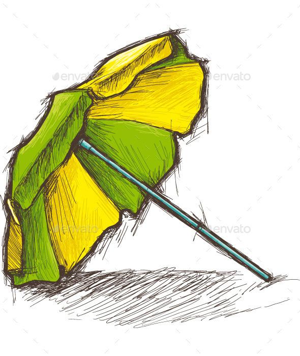 GraphicRiver Beach Umbrella 9755561