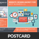 Website Design Agency Postcards Bundle - GraphicRiver Item for Sale