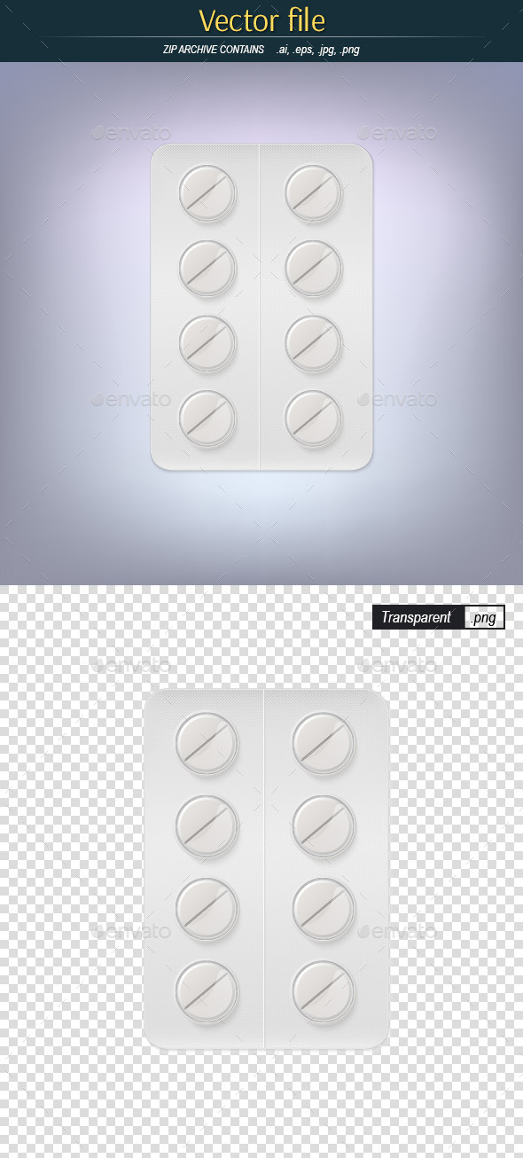 GraphicRiver Pills in a Blister Pack 9756071