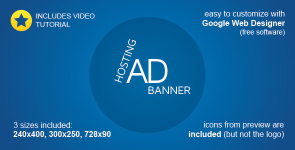 CodeCanyon Hosting Banner Ad Template 9722725