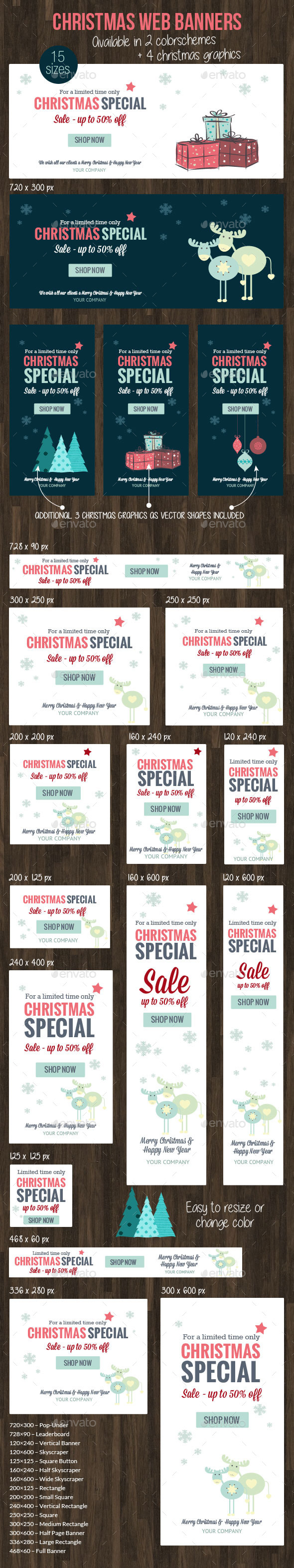 GraphicRiver Christmas Web Banner 2015 9698881
