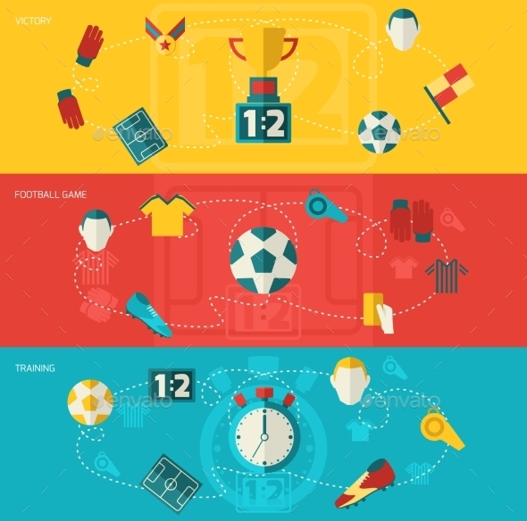 GraphicRiver Soccer Icons Flat 9756250