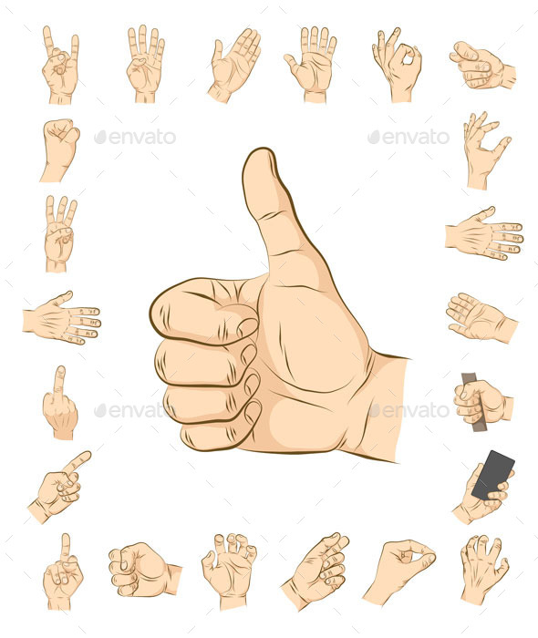 GraphicRiver 23 Realistic Hand Gesture 9756381