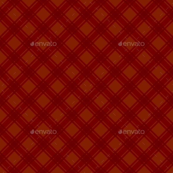 Seamless Red Fabric Tartan Background Vector