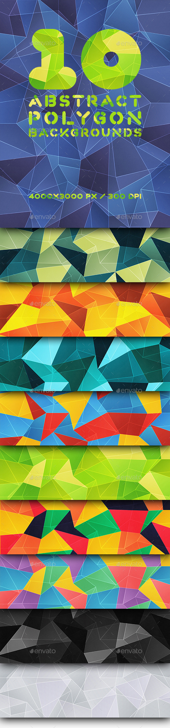 GraphicRiver 10 Abstract Polygonal Backgrounds 9701922