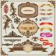 Set of Decorative Frames and Design Elements - GraphicRiver Item for Sale