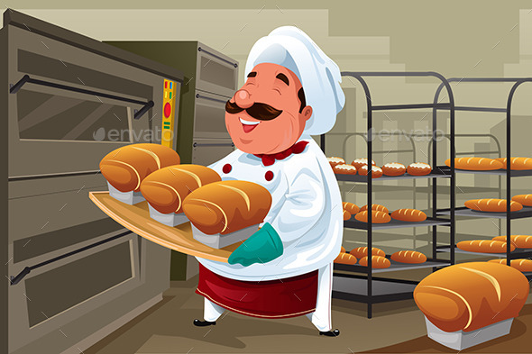GraphicRiver Baker in the kitchen 9757016