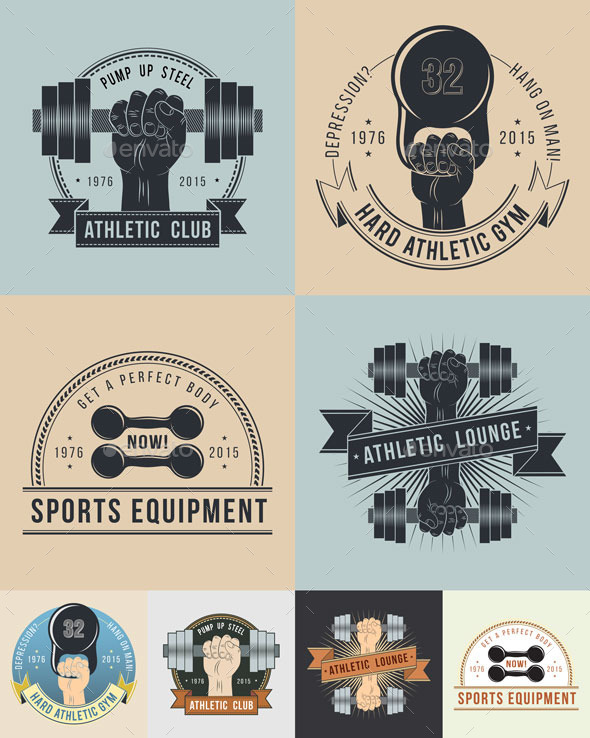 GraphicRiver Athletic Logos Oldschool 9757039