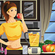 Healthy Woman Making Fruit Juice - GraphicRiver Item for Sale