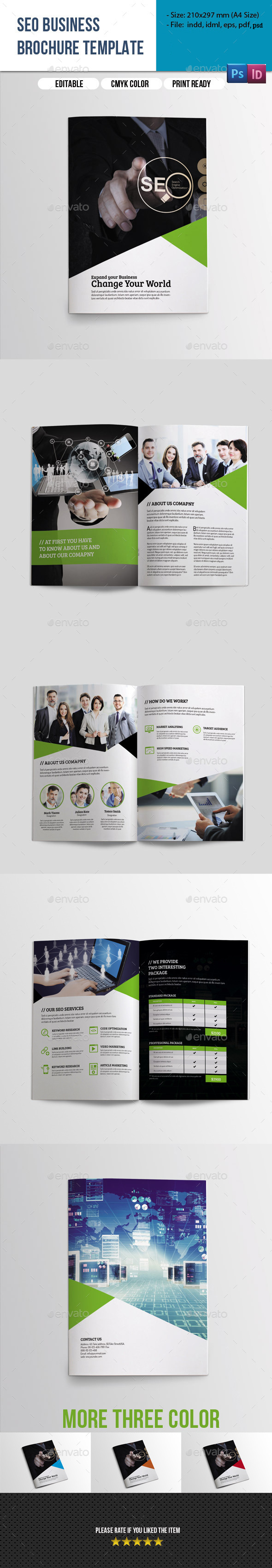 8 Pages SEO Business Brochure