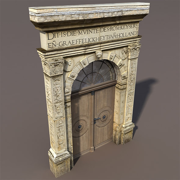 3DOcean Door Portal Low Poly 3D model 9758595