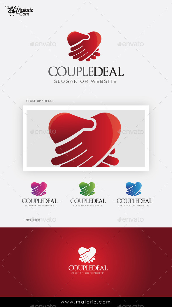 GraphicRiver Couple Deal Logo Template 9758680