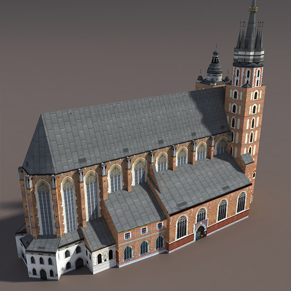 3DOcean Church St.Maria Low poly model 9758681