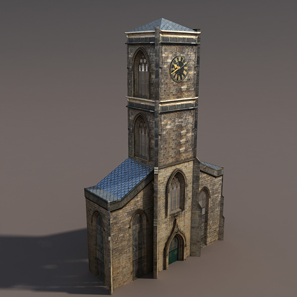 3DOcean Church Low Poly 3D Model 9758756