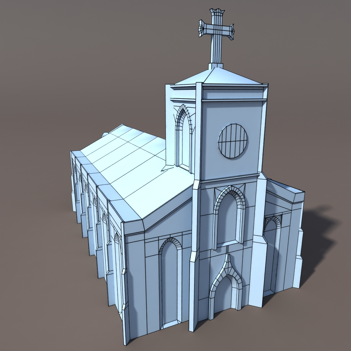 Church Low Poly 3d Model By Cerebrate 3docean