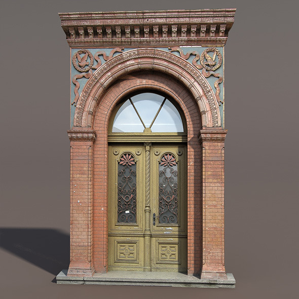 3DOcean Door portal Low poly 3D Model 9759648