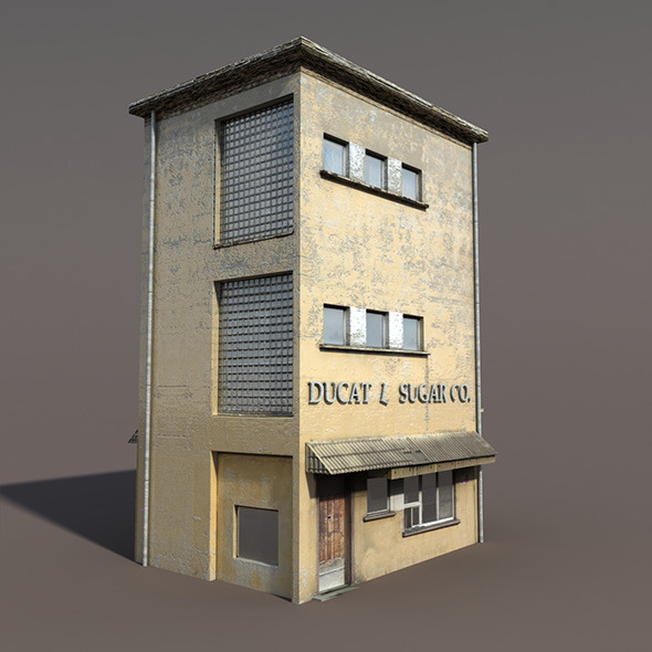 3DOcean Apartment House #90 Low poly 3D Model 9759715