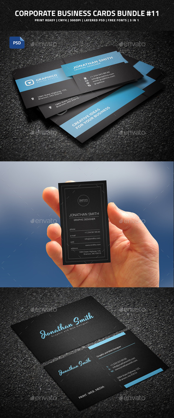 Corporate Business Cards Bundle #11