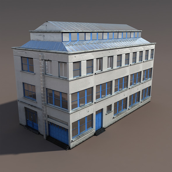Factory #93 Low Poly 3d Model - 3DOcean Item for Sale