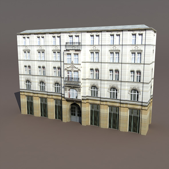 Aparment House #94 Low Poly 3d Model - 3DOcean Item for Sale