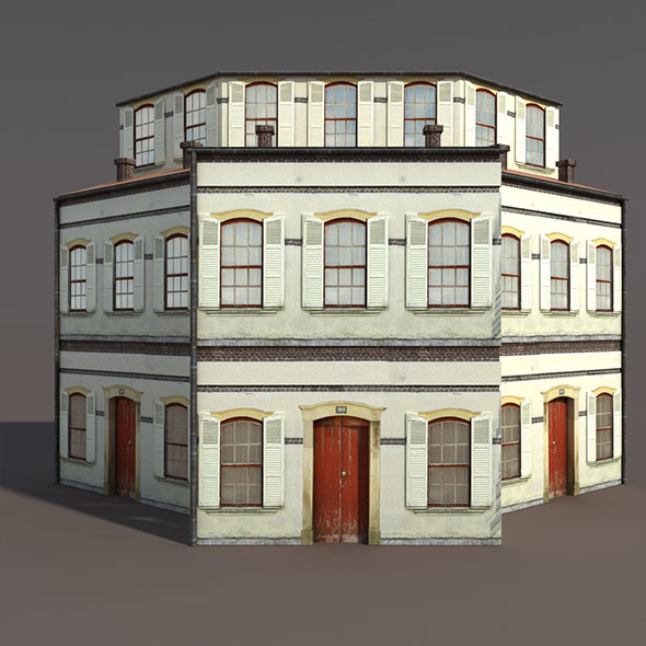 3DOcean Apartment House #97 Low Poly 3D Model 9760612