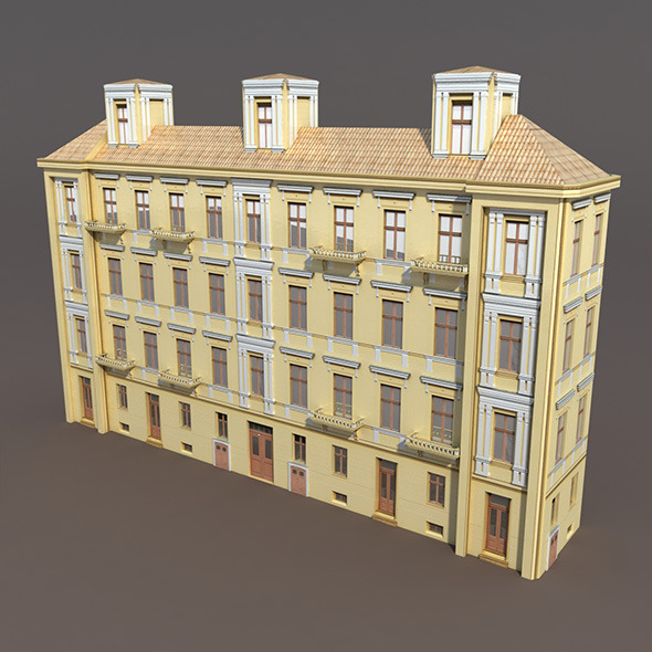 3DOcean Apartment House #98 Low Poly 3D model 9760704