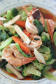 puff shrimps mix broccoli. - PhotoDune Item for Sale