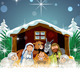 Nativity with Snow Covered Hut - GraphicRiver Item for Sale