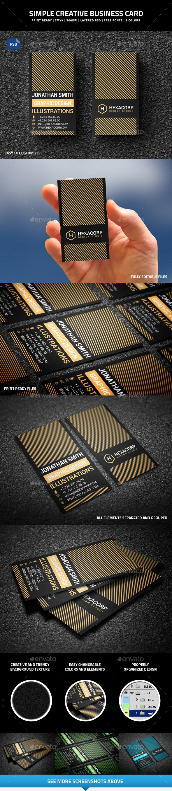 GraphicRiver Simple Creative Business Card 51 9760885