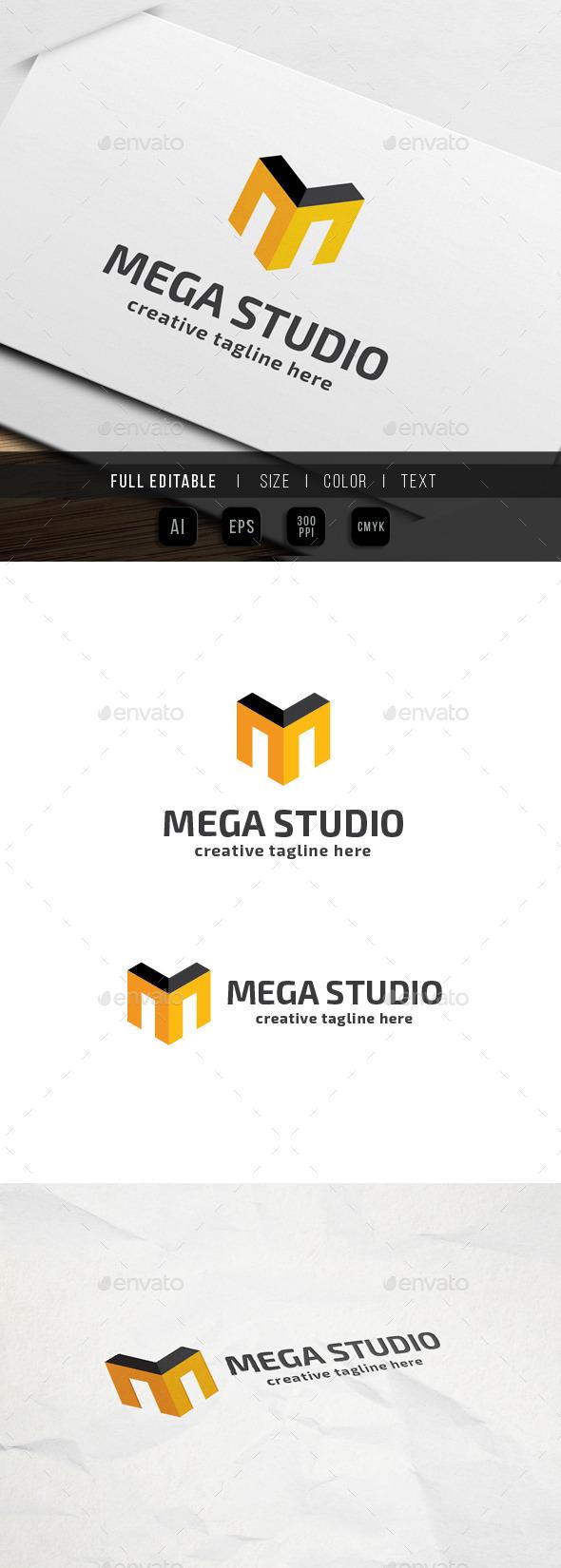 GraphicRiver Mega Studio letter M 9761366