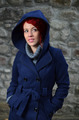 Redhead girl in blue coat - PhotoDune Item for Sale