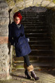 Redhead girl on stone stairways - PhotoDune Item for Sale