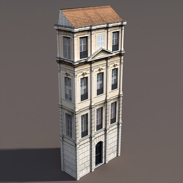 Apartment House #100 Low Poly 3d Model - 3DOcean Item for Sale