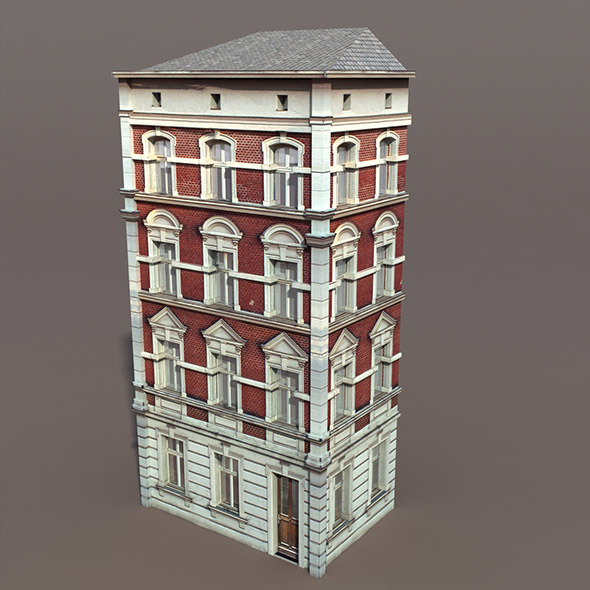 3DOcean Apartment House #101 Low Poly 3D Model 9763113