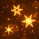 Golden Snowflakes Christmas & New Year Background - VideoHive Item for Sale