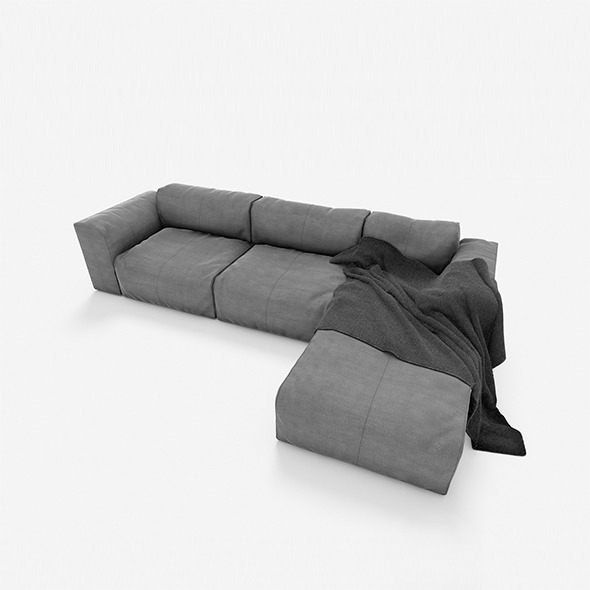 sofa 3seats #01 - 3DOcean Item for Sale