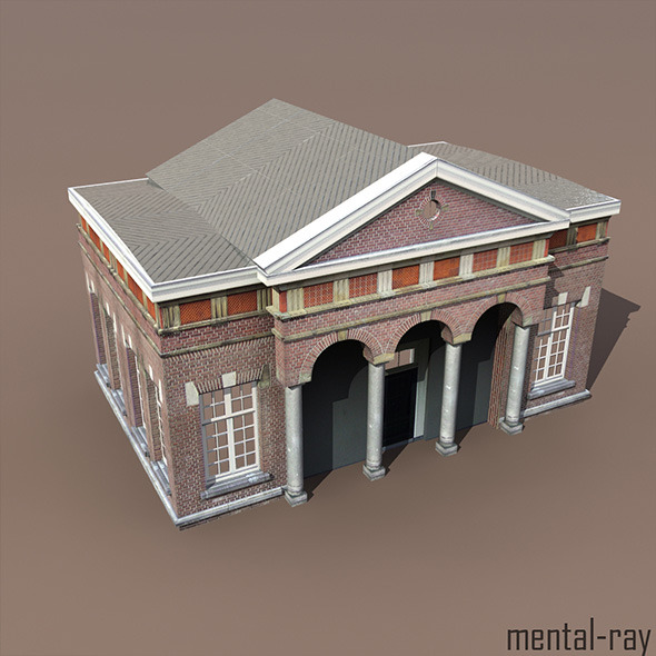 3DOcean Apartment House #105 Low Poly 3D Model 9763855