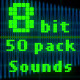 8-bit Retro Old Game 50 Sound Effects Pack