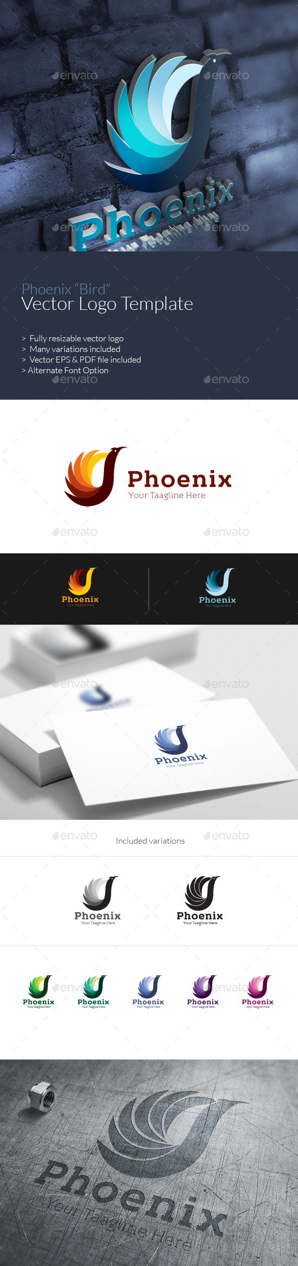 GraphicRiver Phoenix Logo Template 9764002