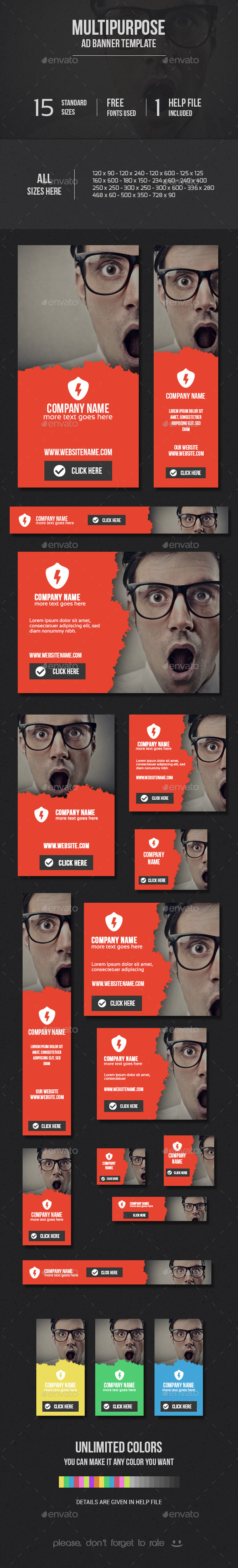 GraphicRiver Multipurpose Ad Banner Template 9764018