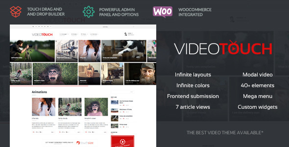 VideoTouch is ultra responsive, retina ready, and built on Twitter Bootstrap framework. It features a clean, modern and interesting design, packed with the sup