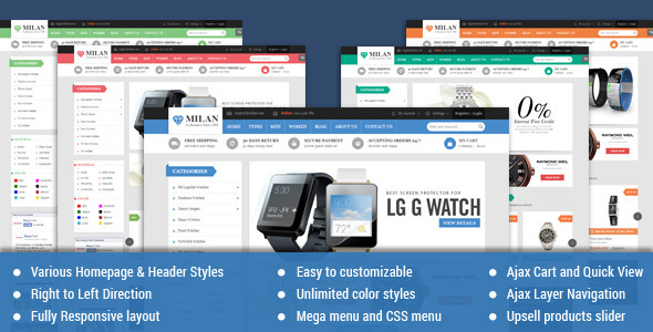 ThemeForest Milan Responsive Multipurpose Magento Theme 9562937