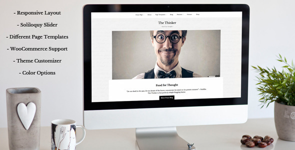 ThemeForest The Thinker Simple Blogging WordPress Theme 9712408