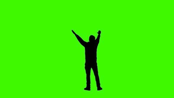 Football Fans on Green Screen Shadow