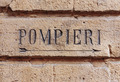 Pompieri street sign. Bologna Italy - PhotoDune Item for Sale